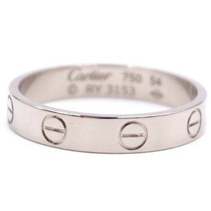 Cartier White Gold 18k 750 Love Band 3.5mm Ring